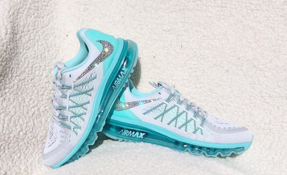 Light Grey Nike Shoes With Turquoise Trim