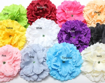 2 Pcs Newborn flower-Large Soft Petal Ruffle Peony Flower-Hair Accessories-Large flowers-DIY Supply-Wholesale flowers-Layered flowers