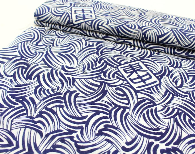 20% OFF Japanese Artisan Cotton. Vintage Yukata Bolt of Fabric with Natural Indigo.  (Ref: 094)