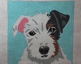 Hand Painted Pop Art Pet Portrait of your Pet Needlepoint Canvas