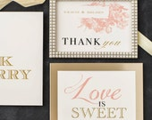 Wedding Signs with Customizable Wording, Paper, Fonts, Colors & Styles (Rustic Chic, Vintage Modern, Traditional Elegant, Script)