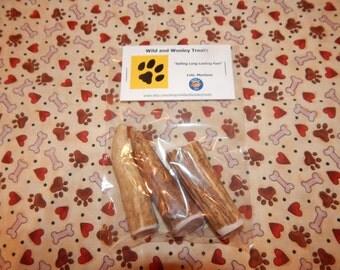 3 Small Elk Antler Dog Chews (Lot D4)
