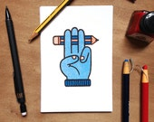 Illustrator's Honour - Mini Print Postcard Risograph Club Card