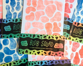 Blob Squad - Activity Postcard Fun Pack x 3