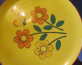 mid century modern daisy tray, bumblebee,,serving tray