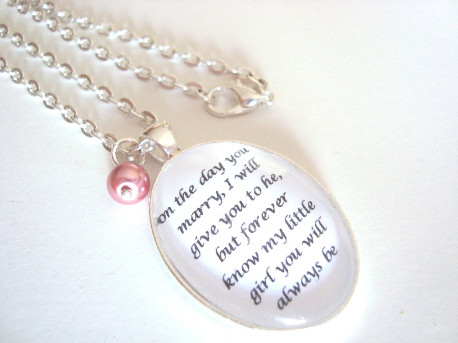 Father to Daughter bridal pendant by SweetlySpokenJewelry on Etsy