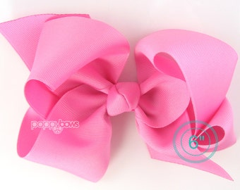 Extra Large Hair Bow pixie pink hair bow - 6 inch hair bows - big bow - giant bow - extra large bow - huge hair bow - girls hair bows xl