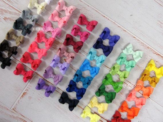 PICK 3 Hair Bows - girls hair bows - toddler hair bows - baby hair bows - little girl hairbows - 2 inch bows - small hair bows boutique