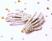Skeleton Hands Hair Clips // Barrettes