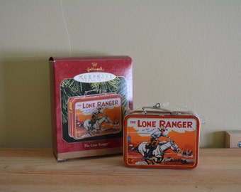 Hallmark Lone Ranger or Superman Lunch Box Ornament