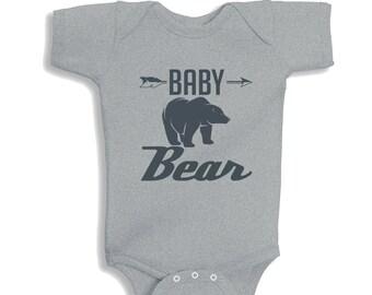 Baby Bear Heather baby Bodysuit or Kids Shirt