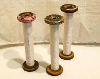 wood spool, wood bobbin,  industrial thread, wood bobbin, vintage textile spools, wood spool, mill find, LARGE SIZE