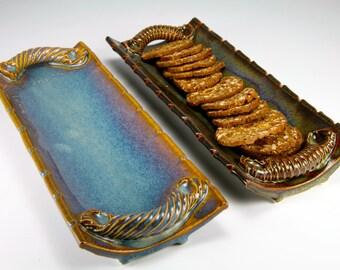 Blue cracker tray
