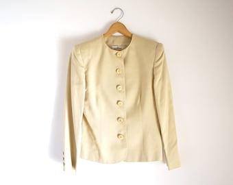 Valentino Miss V tan safari silk blend jacket