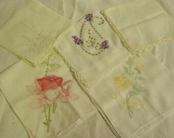 Vintage Floral Hankies