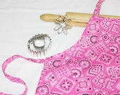 Pink Bandanna Child Apron