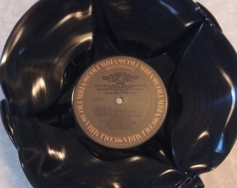Vintage LP Upcycled Record Bowl Annie Musical Soundtrack
