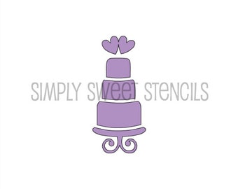 Wedding Cake Stencil 002