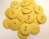 """Sunflower Yellow Matte: 3/4"""" (19mm) Reversible Buttons - Set of 22 New / Unused Matching Buttons"""