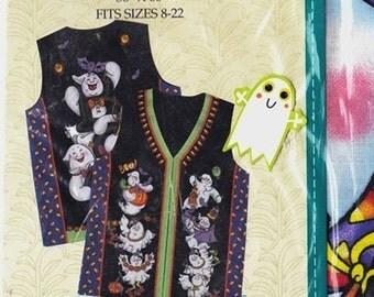 Daisy Kingdom 'Boo' Adult Vest Panel Sizes 8-22 Uncut Pattern- 10
