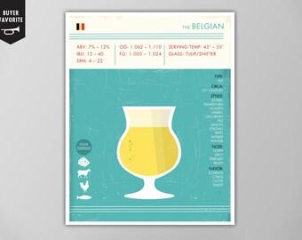 Belgian Beer Art Print, Beer Print, Beer Poster, Belgian Beer Print, Beer Print, Belgian Beer Poster, Beer Art Print, Belgian Beer Poster