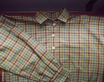 Mens 2XL Civil War Multi Plaid Homespun Cotton Issue Shirt in stock