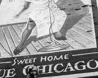 Sweet Home, B&W, photography, print, signed by artist, limited edition, blues, live music, chitown, windy city, soulful, music, art