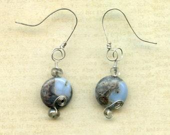 Oregon Blue Opal Earrings
