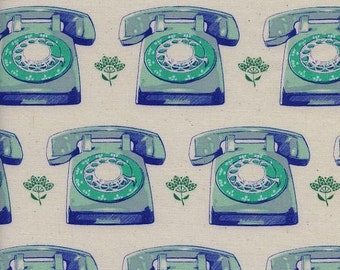 ON SALE Melody Miller Trinket Aqua Telephones Cotton and Steel