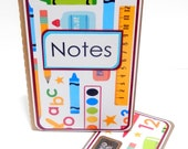 Mini Moleskine Journal with Matching Bookmark- Grade School