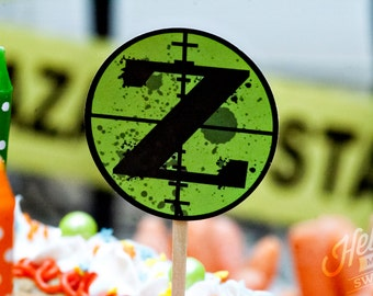 Nerf Zombie Party Circles - Printable Decorations - INSTANT DOWNLOAD