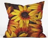 Decorative Throw Pillow. Floral Home Decor. Flowers. Orange and Yellow. Bright Home. Sunny. Spring. Summer Photography. Floral Throw pillow