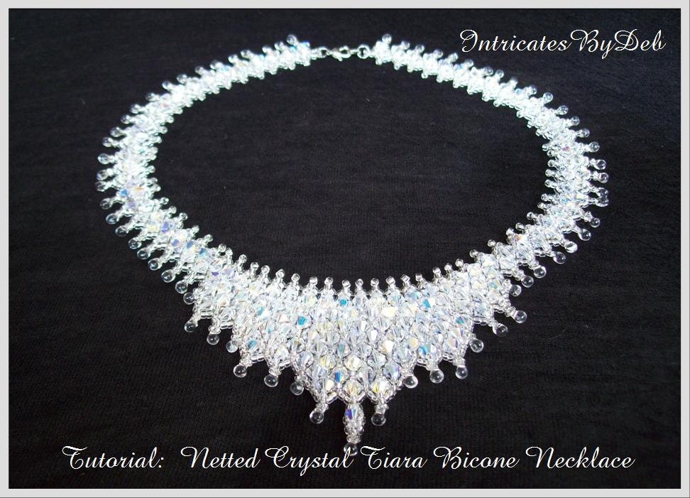 Bead Pattern Netted Crystal Bicone Tiara Necklace Tutorial ...