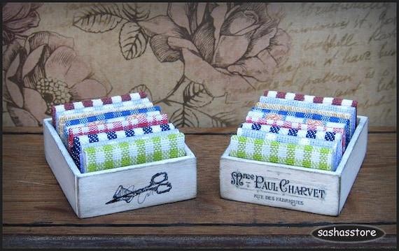Miniature dollhouse fabric