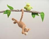 Baby Mobile, Monkey Baby Mobile, Jungle Mobile, Monkey Nursery, Jungle Animals, Monkey Hanging Crib Mobile, Baby Mobiles, Monkey Nursery Art