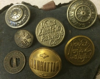 Railroad Uniform Buttons Lot