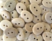 Beach Stone Buttons Rock Buttons Natural Stone Buttons Organic Knitting Buttons Sewing Buttons Findings EARTHY BUTTONS 23-25 mm