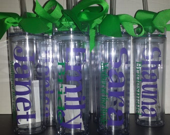 Personalized Tumbler, Customized Tumbler, Wedding Tumbler, Bride, Maid of Honor, Bridesmaids, Mother of Bride, Mother of Groom