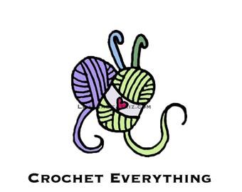 Premade Logo Customizable Pre-Made Crochet Logo Illustration Icon