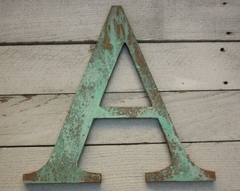 "12"" FAUX copper letter A- Ready to Ship"