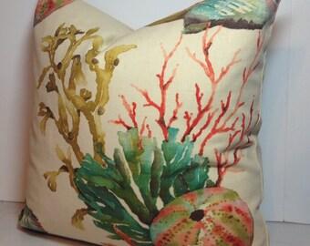 Aquatic Sealife Coral Decorative Pillow Covers