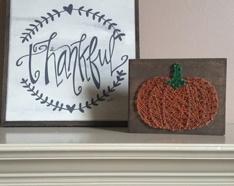 Made to order - string art mini pumpkin