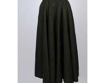 1950s skirt/ 50s taffeta circle skirt/ small