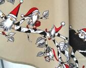 Goblins Christmas tea towel Nordic linen towel tablecloth Christmas gift Christmas Kitchen Decor