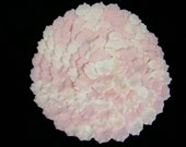 Table Runner / Rose Petal Wedding Centerpieces / 14 Inch Circle Runners / Pink Blush & Ivory / Bridal Shower / Girl Baby Shower / 4 pcs