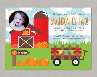 Our Little Pumpkin Invitation, Little Pumpkin Birthday Invitation, Farm Birthday Invitation, Little Pumpkin, Fall Birthday Invitation