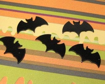 Dollhouse Miniature bats Halloween decoration plastic 8pcs black flat 14mm x 8mm decoden kawaii craft supply deco