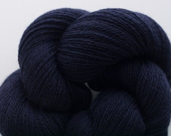 Lace Weight Recycled Merino Yarn, Midnight Marl Recycled Merino Lace Weight Yarn, 2423 Yards Available