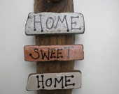 MTO HOME Sweet HOME Ocean Sea Houses Harbour Driftwood Plaque Wall Hanging Painting Picture by Kate Dengra Spain