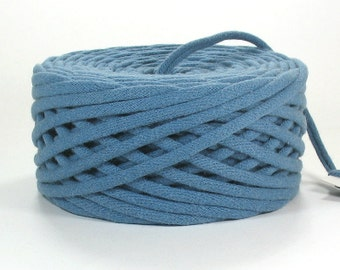 Windsor Blue T Shirt Yarn 49 Yards Recycled Reclaimed Tshirt